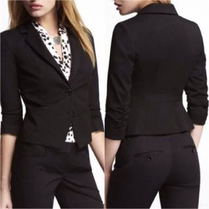 Express black Ruched sleeve blazer size 4